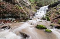 Hinterer Wasserfall in der Hörschbachschlucht