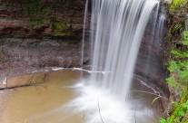 Vorderer Wasserfall in der Hörschbachschlucht