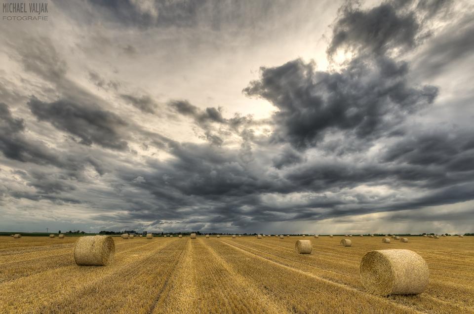 Gewitterwolken bei Liedberg