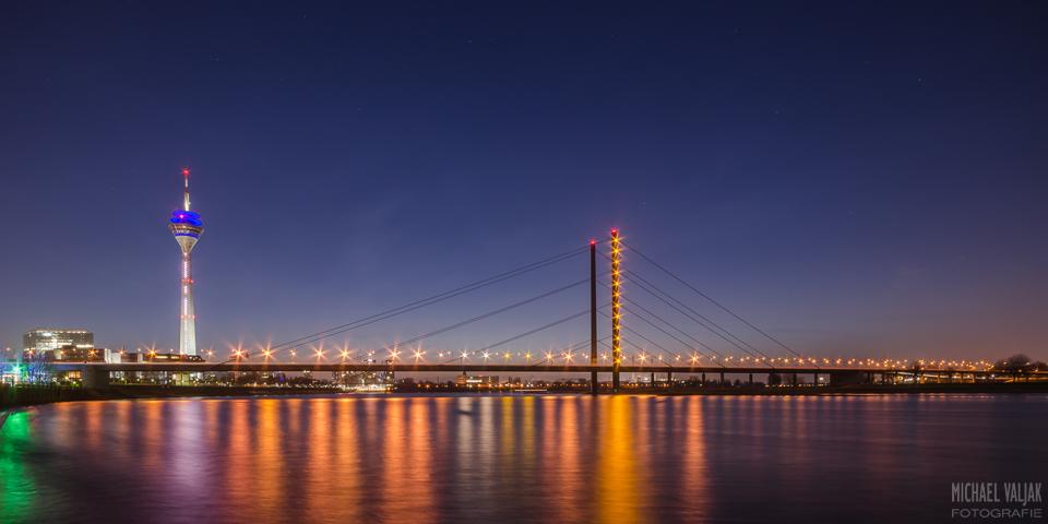Abends in Düsseldorf