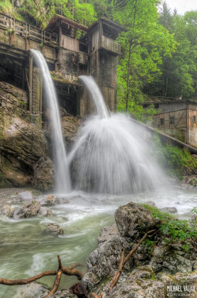In der Seisenbergklamm in Weißbach bei Lofer in Österreich