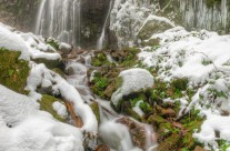 Der Burgbachwasserfall im Winter