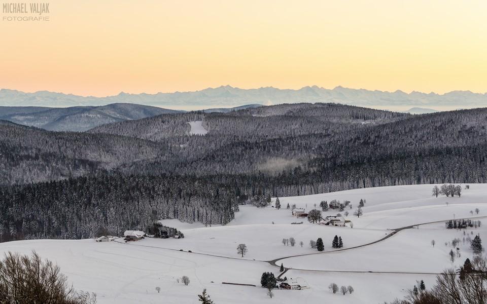 Blick vom Schauinsland Richtung Alpen