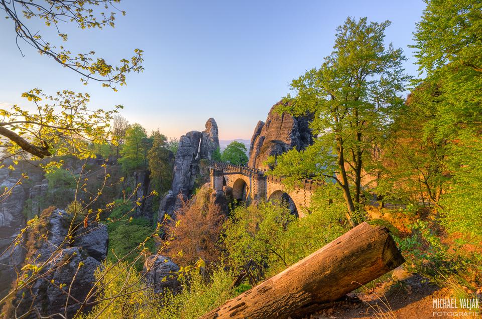 Basteibrücke im Morgenlicht
