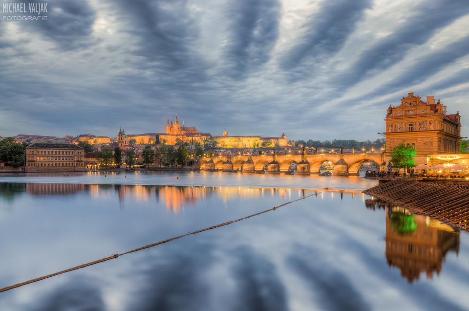 Dramatic sky over Prague