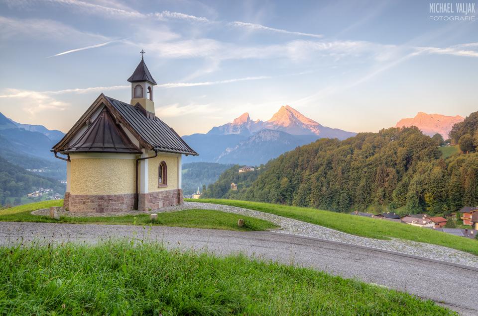 Berchtesgaden Blick Richtung Watzmann am frühen Morgen