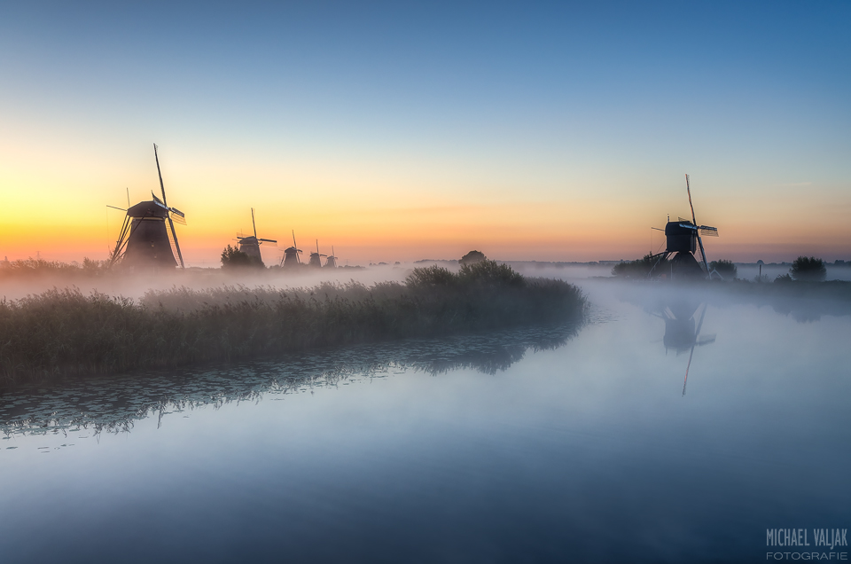 Morgens in Kinderdijk
