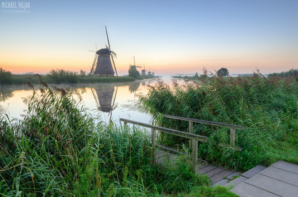 Früh Morgens in Kinderdijk