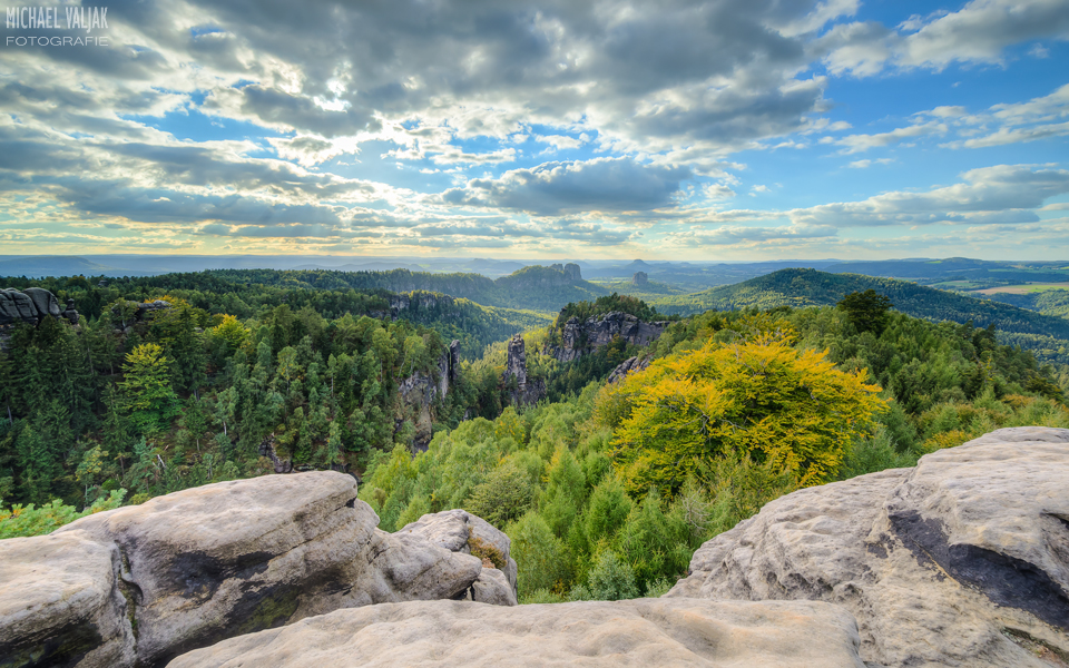 Aussicht vom Carolafelsen Sächsische Schweiz