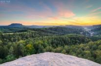 Sonnenuntergang vom Gamrig in der Sächsischen Schweiz