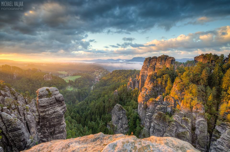 Morgenstimmung im Elbsandsteingebirge