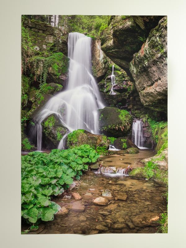 Sächsische Schweiz Lichtenhainer Wasserfall, Poster, 40 x 60 cm
