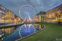Corneliusplatz Düsseldorf am Abend