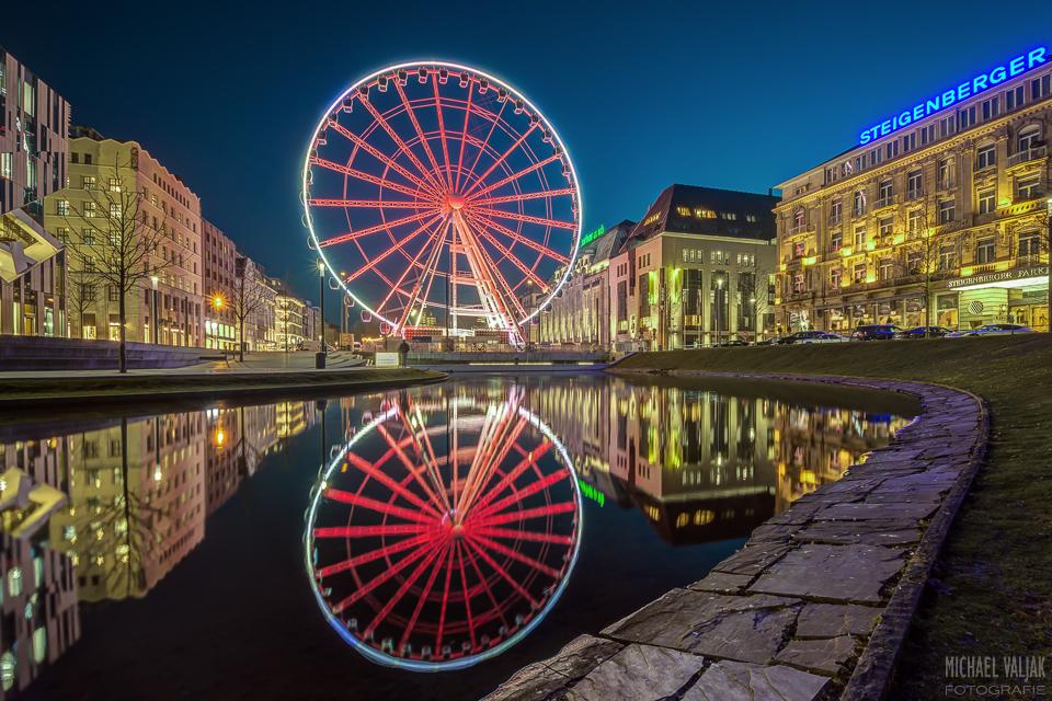Corneliusplatz Düsseldorf bei Nacht