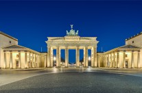 Brandenburger Tor in der Morgendämmerung