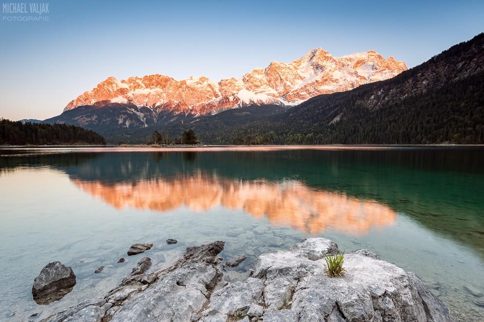 Alpenglühen am Zugspitzmassiv