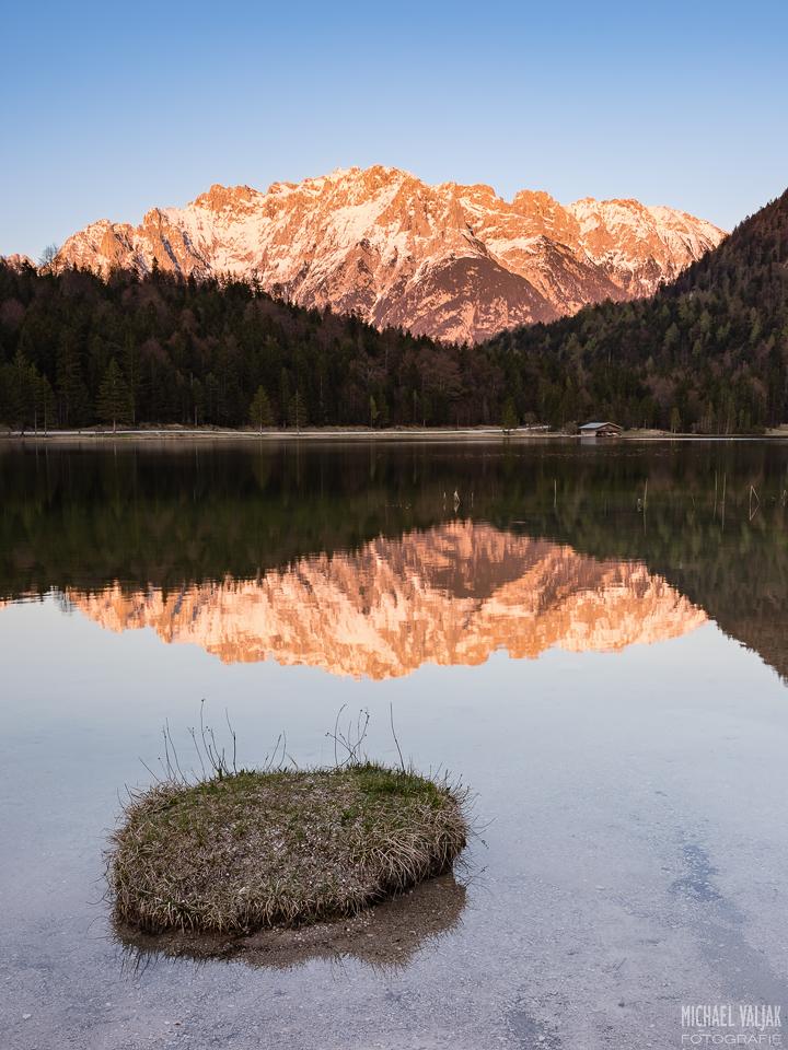 Alpenglühen am Ferchensee