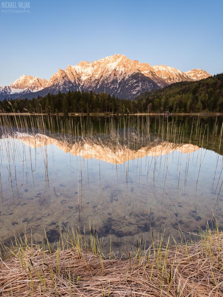 Alpenglühen am Lautersee