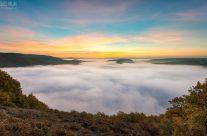 Saarschleife im Nebel