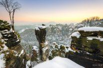 Winterabend am Wehlgrund