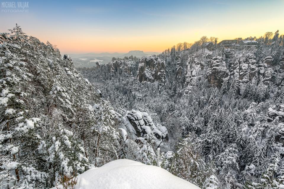 Winter im Basteigebiet