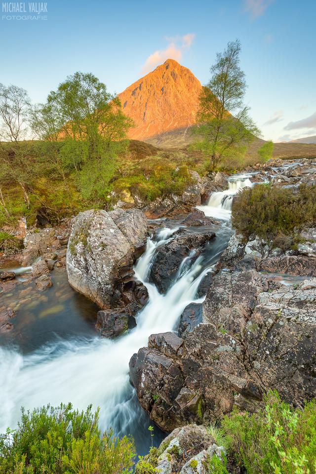 Wasserfall im Glen Etive