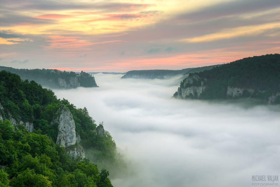 Nebel im Donautal
