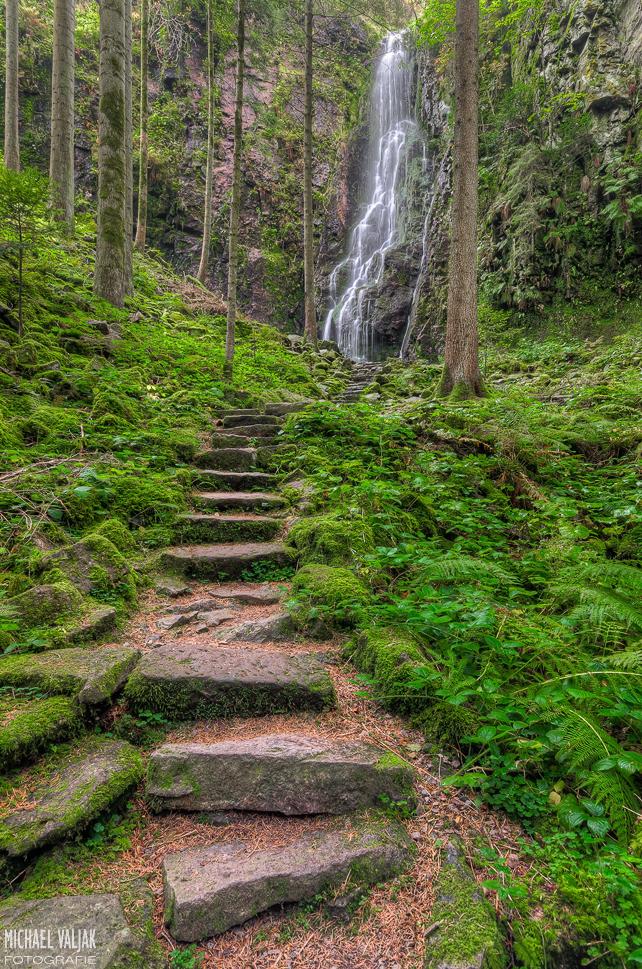 Burgbachwasserfall im Schwarzwald