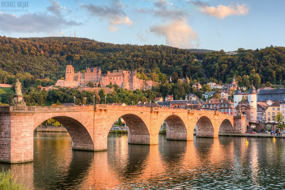 Heidelberg Alte Brücke und Schloss