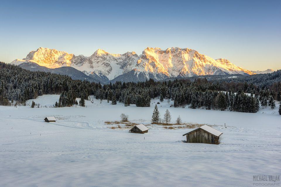 Alpenglühen am Karwendel