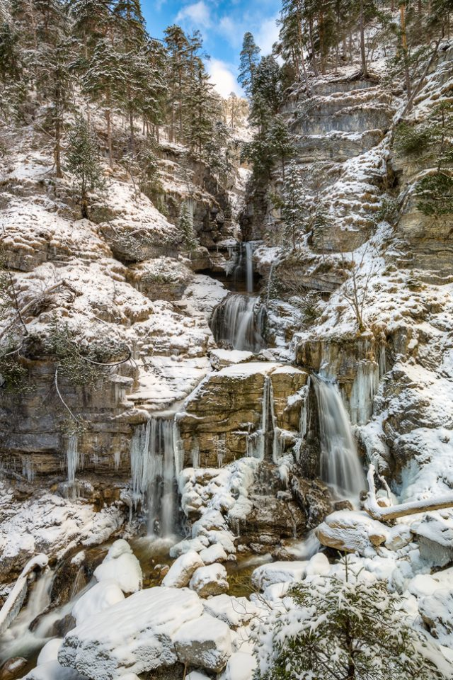 Kuhfluchtwasserfall in Farchant