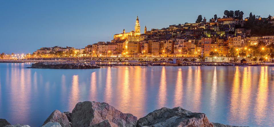 Menton an der Côte d'Azur