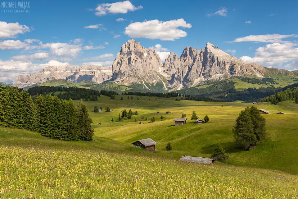 Sommer auf der Seiser Alm in Italien