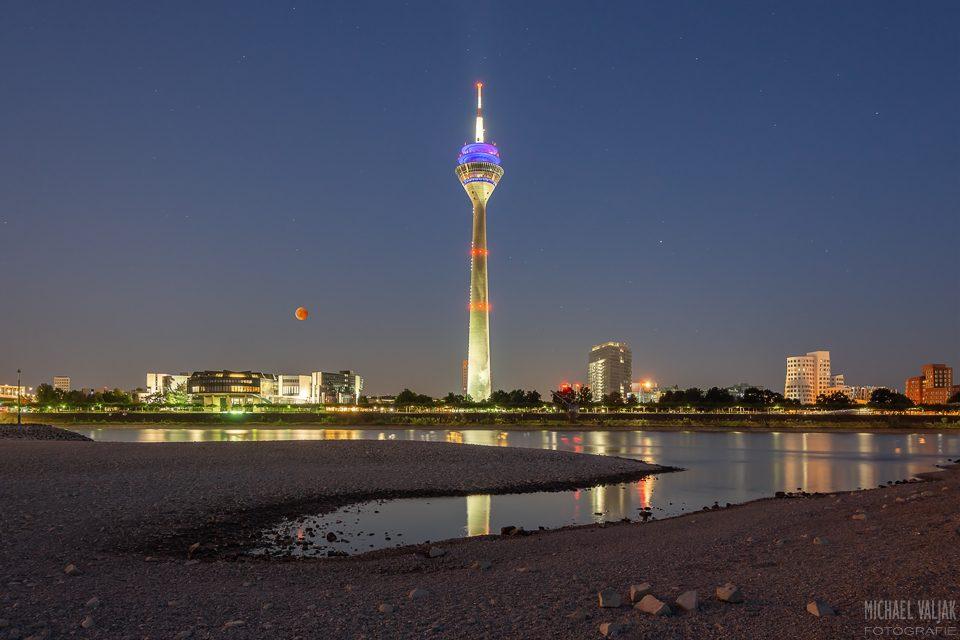 Blutmond in Düsseldorf