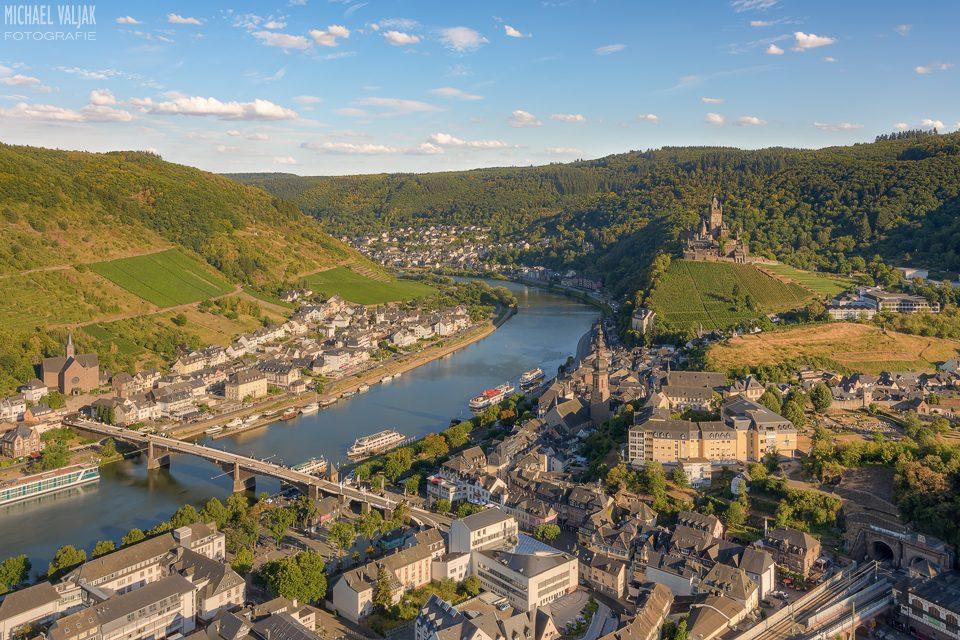 Abendsonne in Cochem in der Eifel