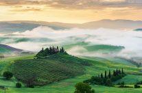 Toskana im Nebel