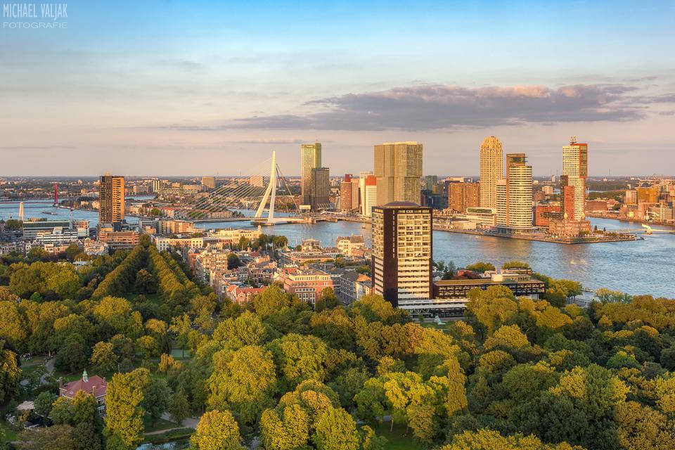 Abendsonne in Rotterdam