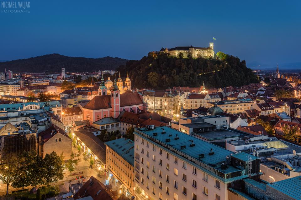 Ljubljana am Abend