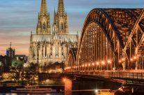 Köln Hohenzollerbrücke und Kölner Dom