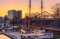 Segelschiff in der Marina Düsseldorf