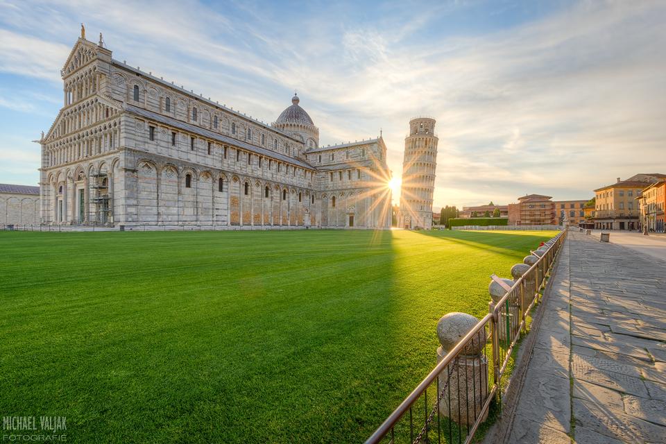 Ein Sonnenstern in Pisa