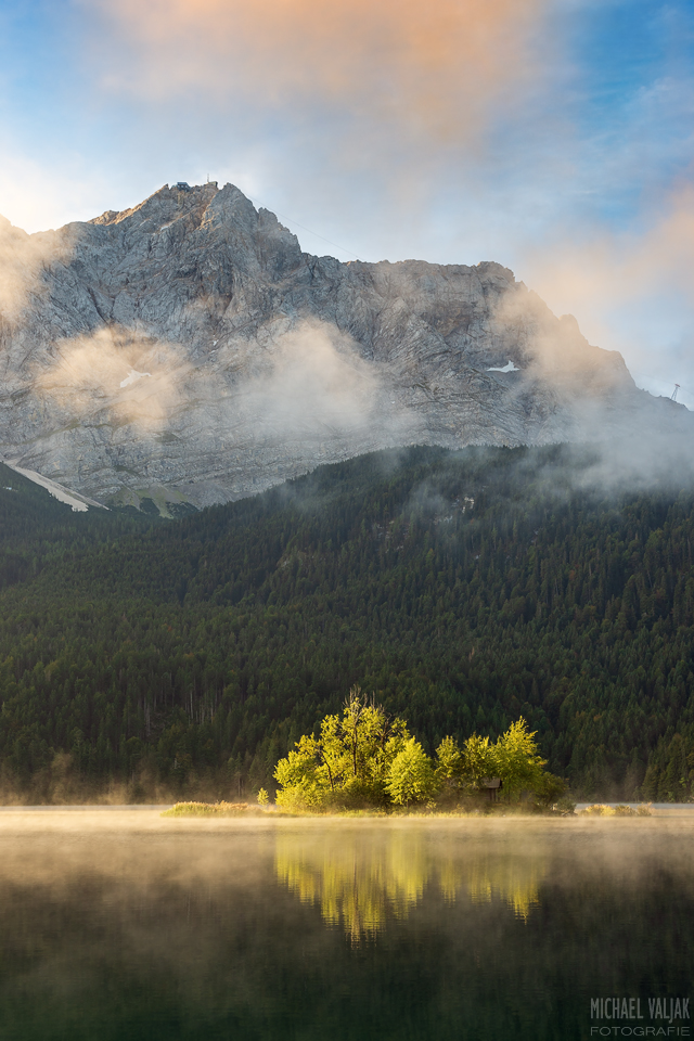 Morgens am Eibsee