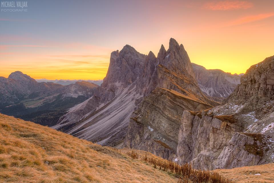 Sonnenaufgang auf der Seceda