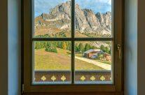 Dolomiten Fensterblick
