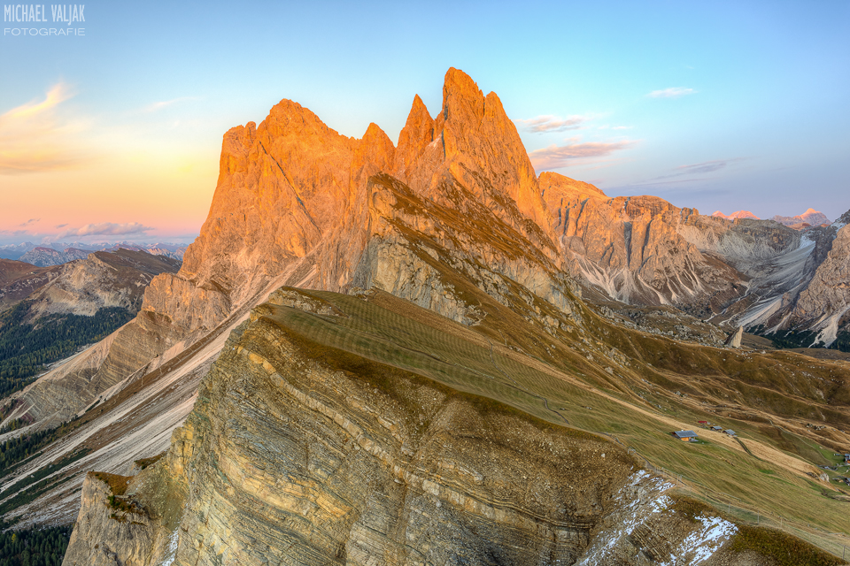 Seceda Alpenglühen