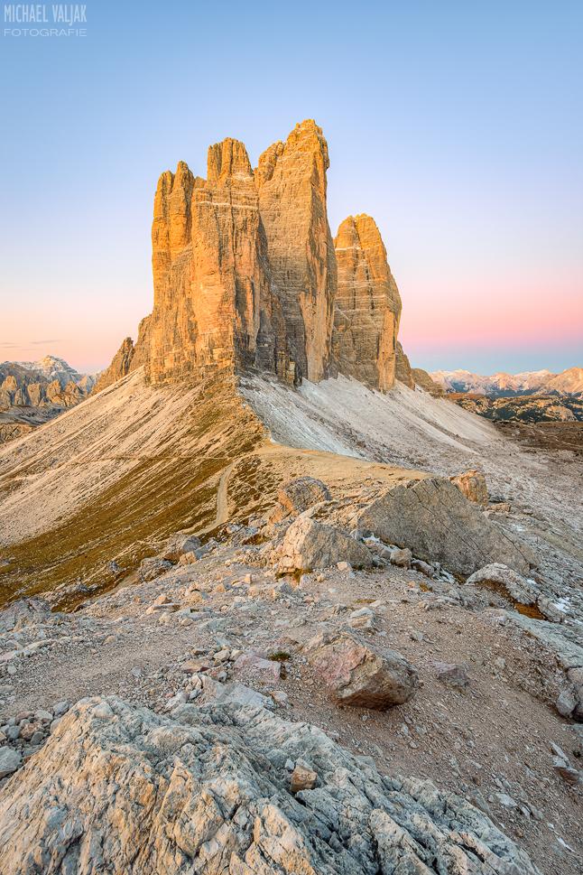 Drei Zinnen und Paternsattel in Südtirol