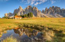 Bei der Geisleralm in Südtirol