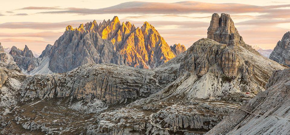 Haunoldgruppe in den Dolomiten