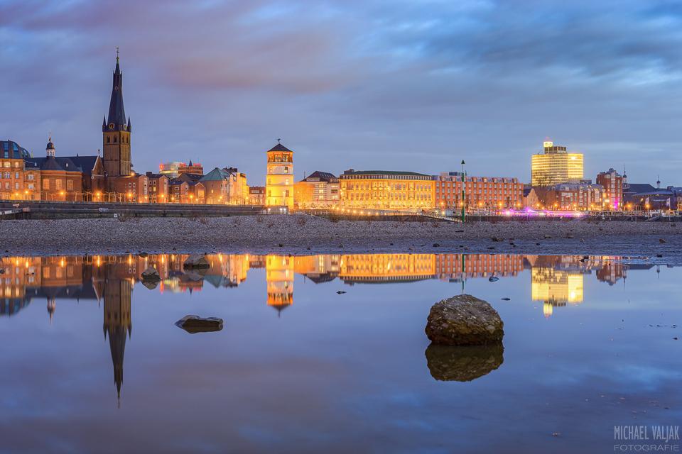 Blick zur Düsseldorfer Altstadt