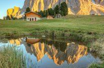 Bei der Geisleralm im Villnösstal in Südtirol